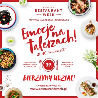 Restauracja Patio zaprasza na wiosenną edycję festiwalu Restaurant Week!