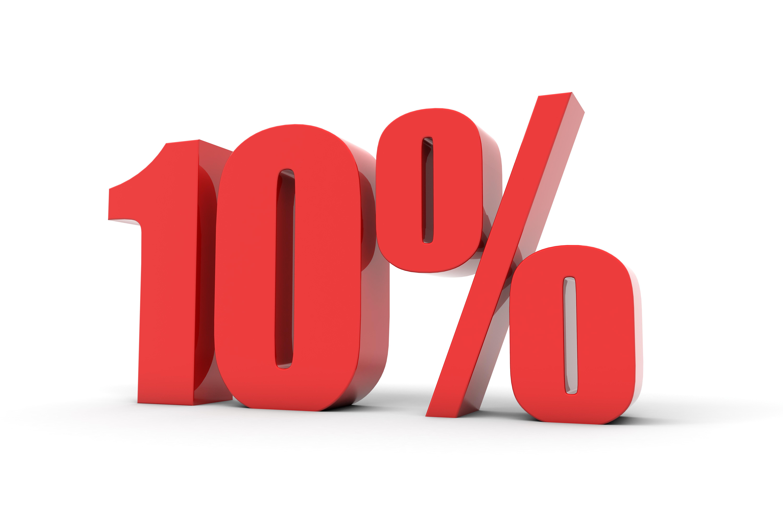 10% w 72h