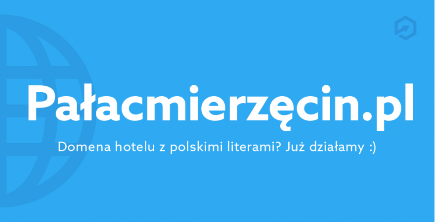 Domeny hoteli z polskimi literami