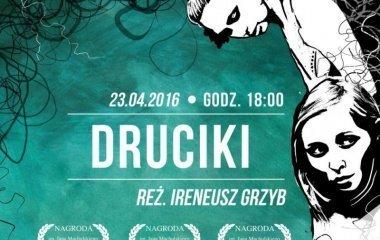 """Pokaz filmu """"Druciki""""  i spotkanie z reżyserami"""