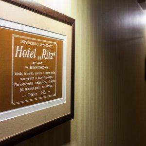 Reklama dawnego Hotelu Ritz