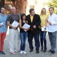 """Ekipa spektaklu """"Kochanie na kredyt"""" w Pałacu Mierzęcin Wellness & Wine Resort"""