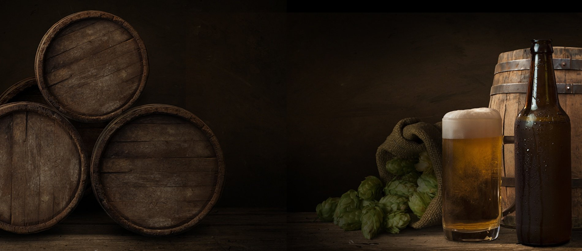 Taste our beer we make at our own brewery