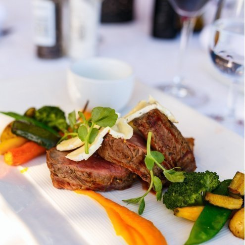 with local and International dishes