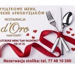 Walentynki w Restauracji D'Oro