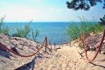 Alejka spacerowa na plażę nad Zatoką Pucką