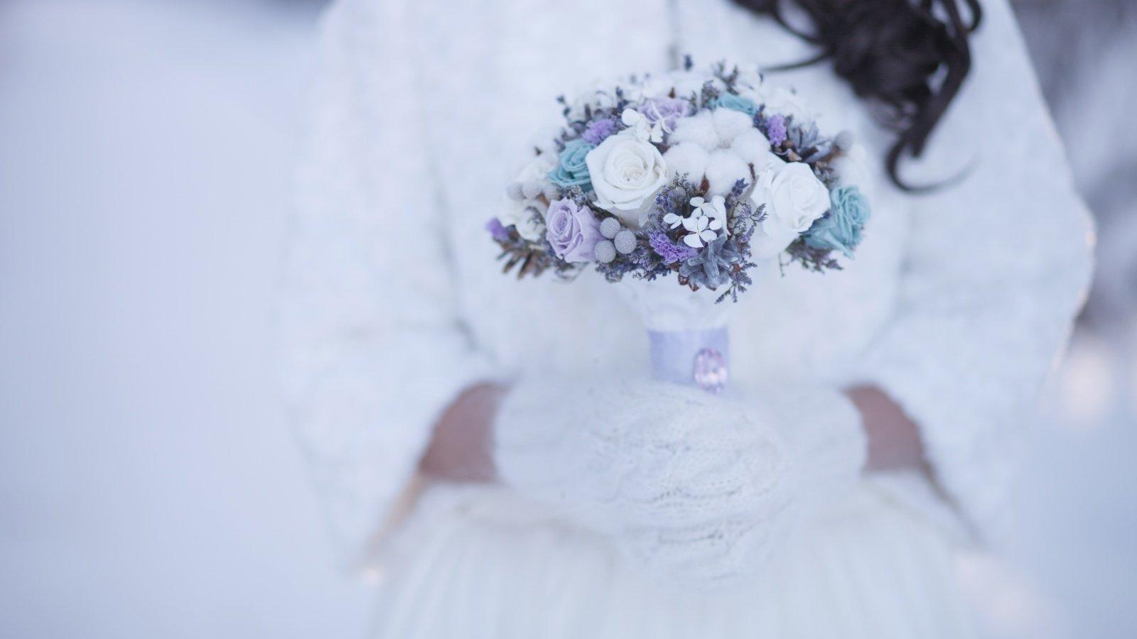 Idealny bajkowy ślub w zimowej aurze