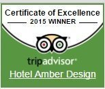 Quality Certification Tripadvisor 2015 Hotel Amber Design****