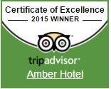 Quality Certificate Tripadvisor 2015 Hotel Amber***