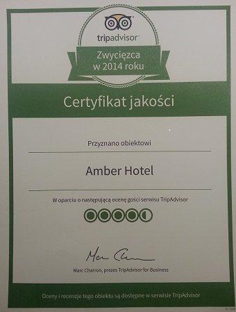 Сертификат качества Tripadvisor 2014