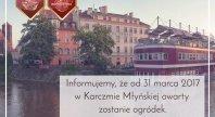 12/12/2016 - Otwarcie ogródka w Karczmie Młyńskiej!