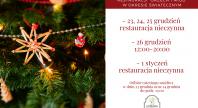 2019-12-16 - Godziny otwarcia restauracji