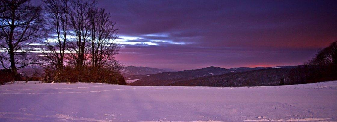 wieczor zima