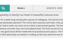 Eine tolle Bewertung für unser Landhotel Grashof