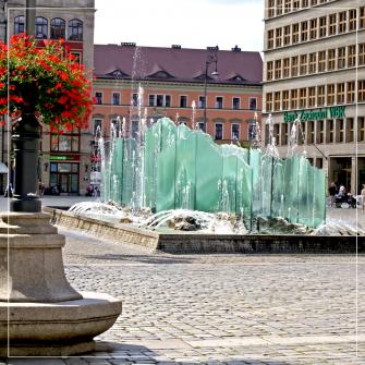 Szklana fontanna na wrocławskim Rynku