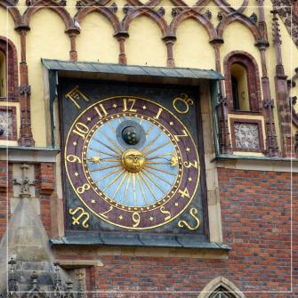 Tajemniczy zegar na wrocławskim Ratuszu