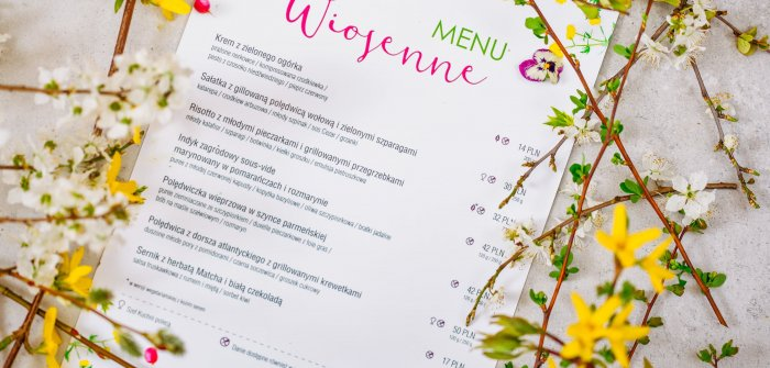 WIOSENNE MENU W RESTAURACJI PATIO