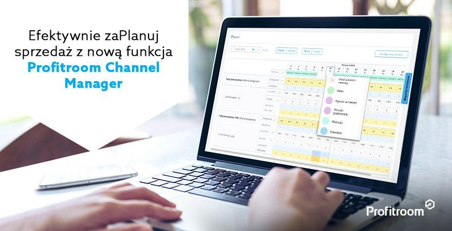 Efektywnie zaPlanuj sprzedaż z nową funkcją Profitroom Channel Manager