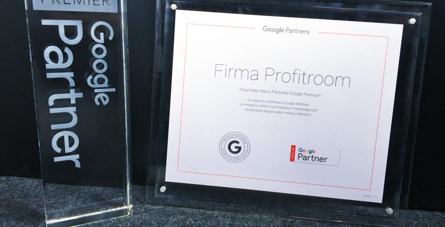 Odebraliśmy certyfikat i statuetkę dla Partnera Premium Google
