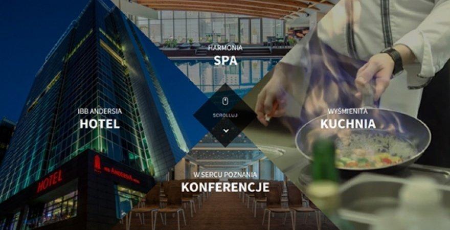 Video - Obraz ważniejszy od tekstu na nowej stronie www Hotelu Andersia
