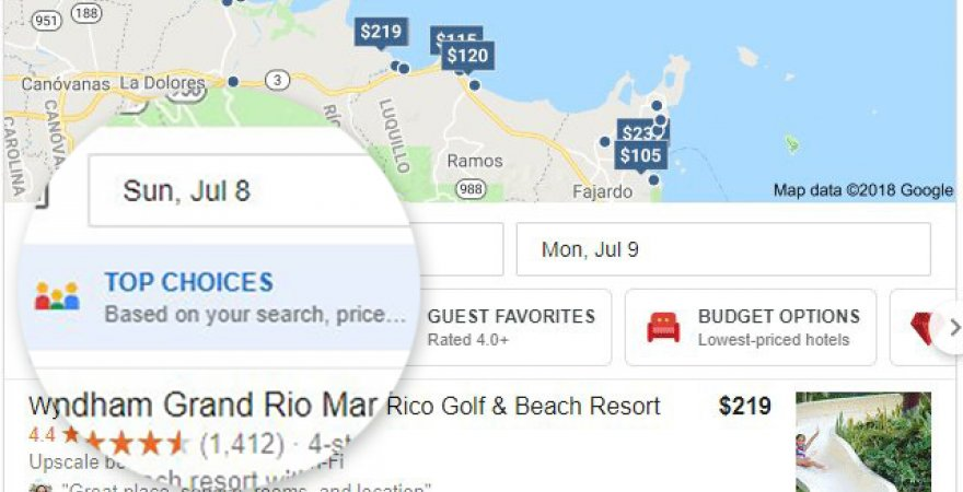 Google's new feature: local search filtres
