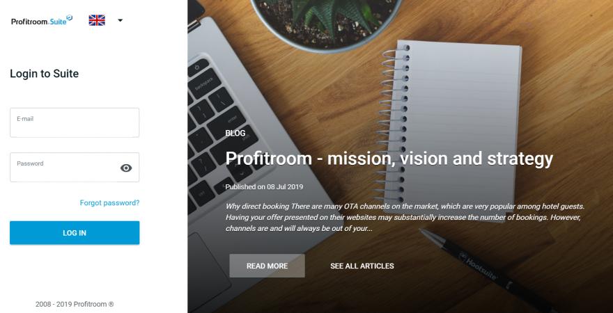 The new Profitroom Suite look