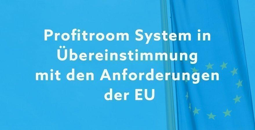DSGVO: Profitroom system in übereinstimmung mit den anforderungen der eu