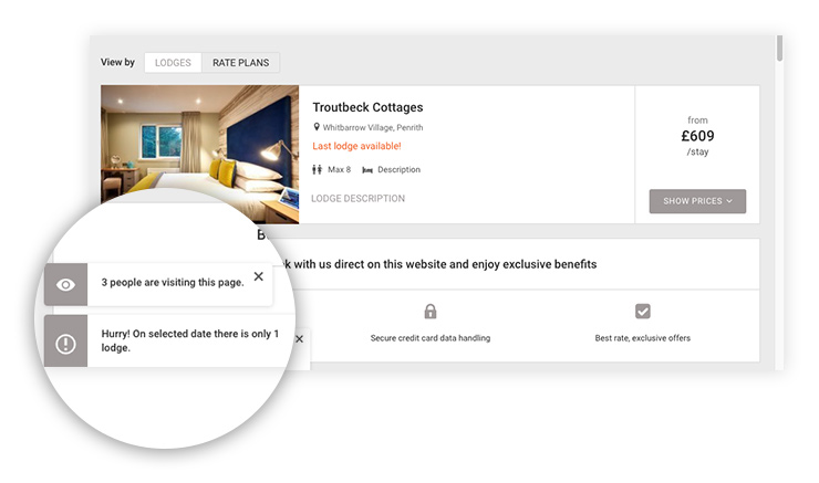 direct booking, example