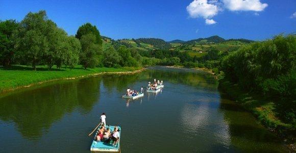 Spływ łodziami doliną Popradu