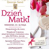 Weekend z Dniem Matki w restauracji George Sand