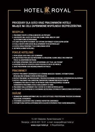 Procedury bezpieczeństwa związane z pandemią