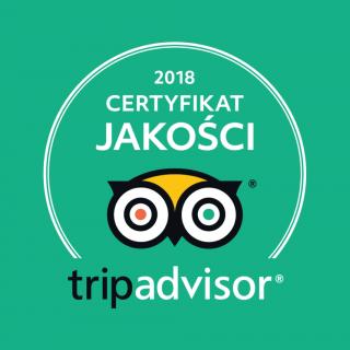 TripAdvisor Certyfikat Jakości 2018