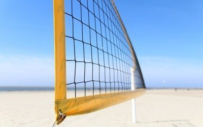Beach voleyball field