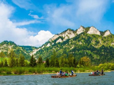 Polish rafting on the Dunajec River