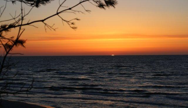 Fast jeden Tag können wir solche Sonnenuntergänge beobachten