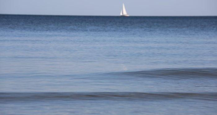 Bałtyk 'jezioro' o poranku