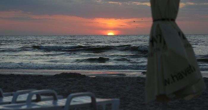 wakacyjny zachód słońca