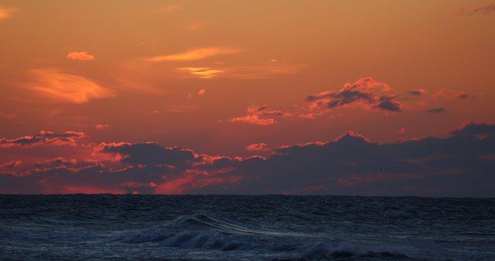 klimatyczny zachód słońca