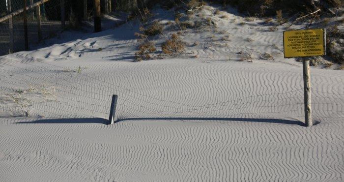 Riplemarki na plaży