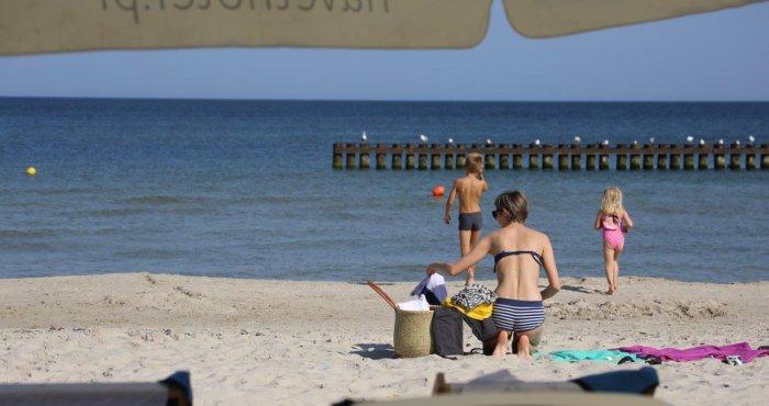 gorący koniec wakacji nad morzem
