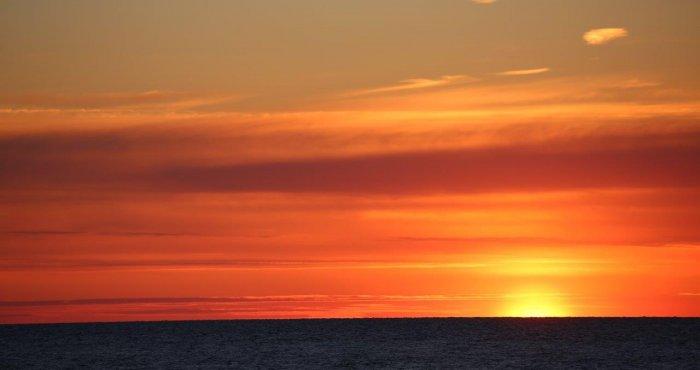 klimatyczne zachody słońca