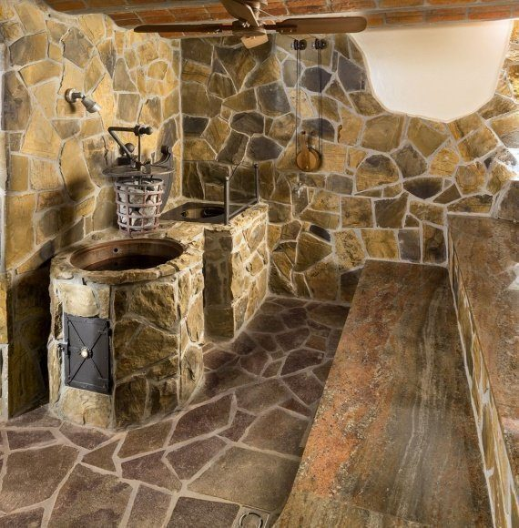 Stone sauna – steam bath