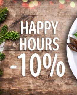 Happy Hours -10%