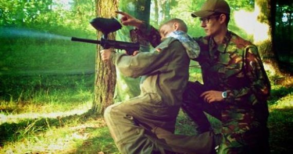 Paintball and survival activities for children and teenagers