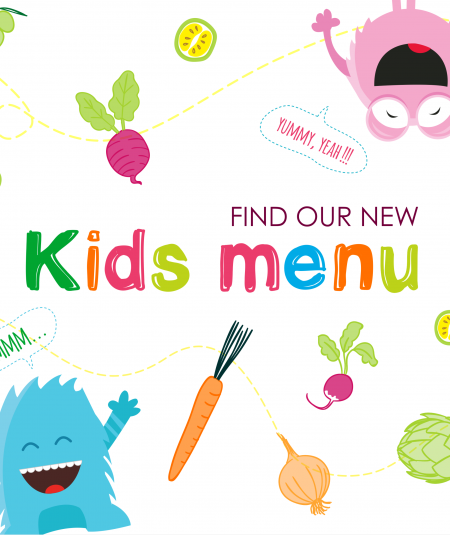 NEW KIDS MENU IN PATIO RESTAURANT