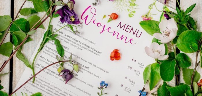 SPRING IS COMING – IT'S TIME FOR A NEW SEASONAL MENU