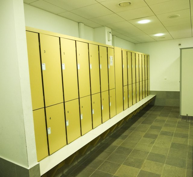 Sauna Zone's changing rooms