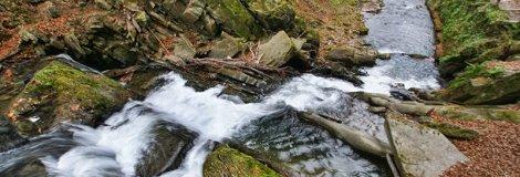 Wodospad Szepit na potoku Hylaty