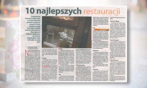 10 najlepszych restauracji w Lublinie
