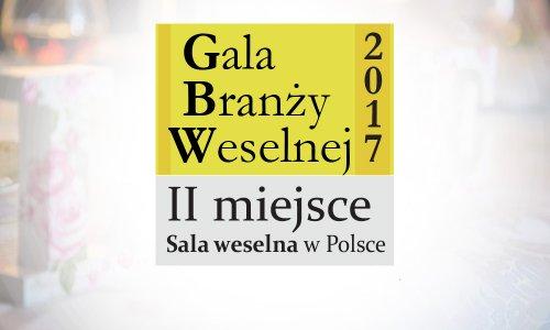 II Miejsce Gala Branży Weselnej